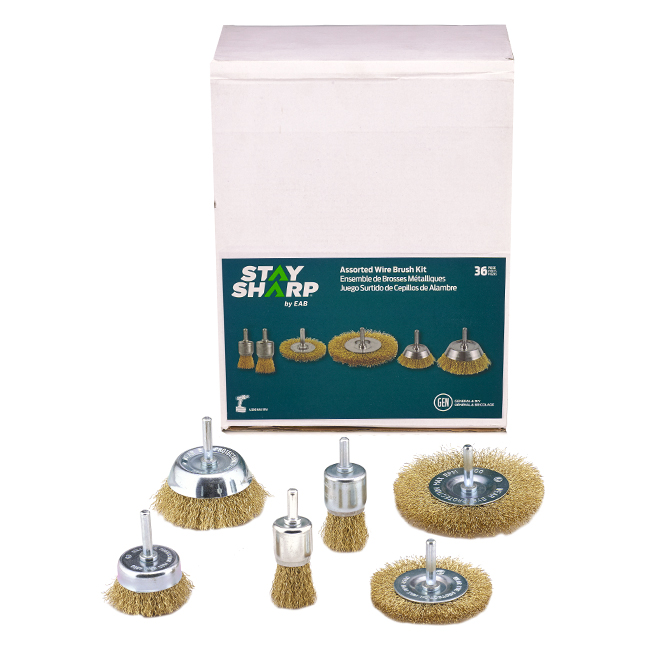 Exchange A Blade Eab Tool Standard Wire Wheels And Electric Drill Brushes 36 Pack 2160449 Rona