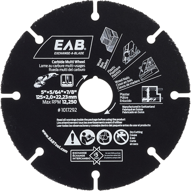 Multi Wheel Saw Blade - Carbide - 5 in. - Exchangeable