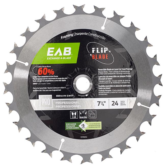 EAB Bi-Directional Blade - Circular Shape - Steel - Composite Lumber Utilization