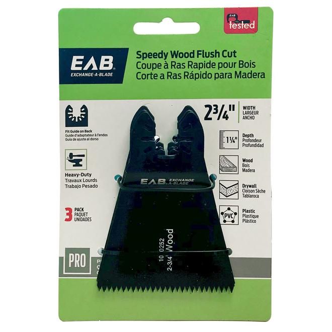 Speedy Flush Cut Blades - 2 3/4 in. - 3 Pack - Exchangeable
