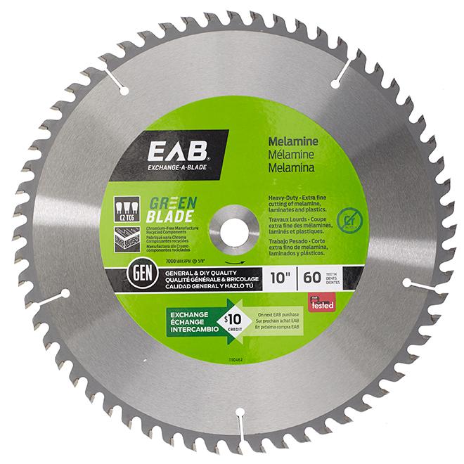 EAB Green Finishing Circular Saw Blade - Alloy Steel - 10-in Dia - 60 Tooth