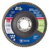 Surface Finishing Flap Disc - 60-Grit - 4 1/2''