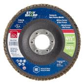 Surface Finishing Flap Disc - 120-Grit - 4 1/2''