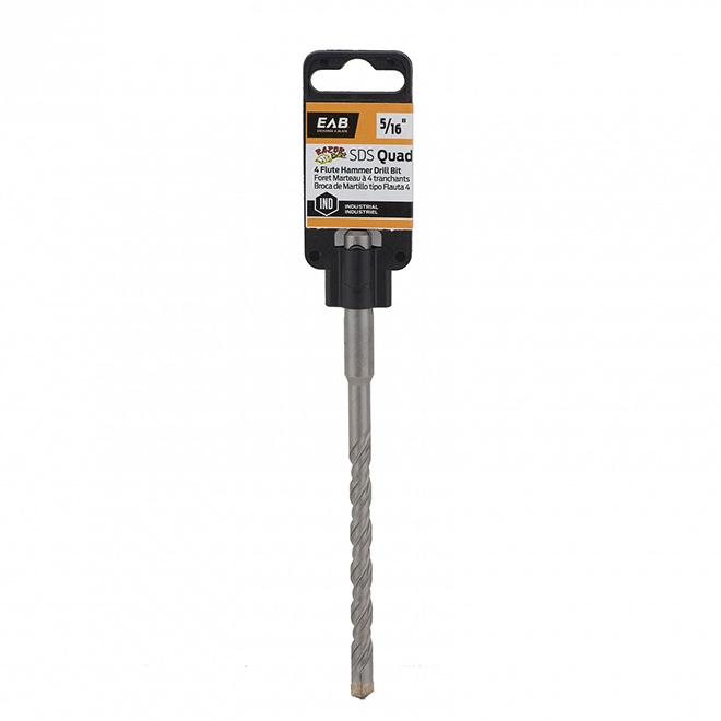 EAB Razor Back Hammer Drill Bit - Carbide Tip - SDS Plus - 6-in L x 5/16-in Dia