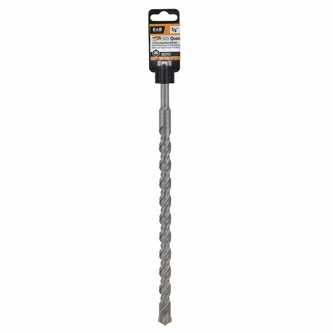 EAB Masonry Drill Bit - SDS Quad - 5/8-in x 12-in - Carbide - 10-in Cutting Depth