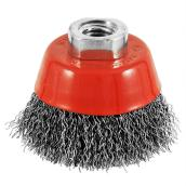 """Crimped-Wire Grinder Brush - 2 1/2"""" x 5/8"""" - Red/Carbon"""