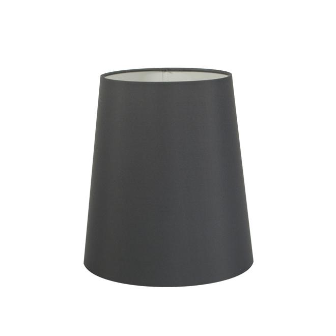 Abat-jour «Unik» Uberhaus, tissu, 9 po x 10 po, gris