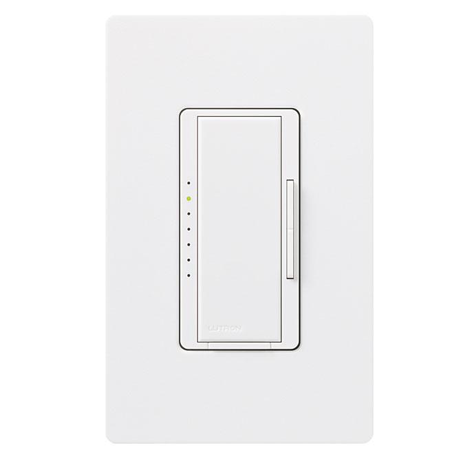 Gradateur unipolaire pour lumière à DEL Maestro de Lutron, blanc, 120 volts, 150 W