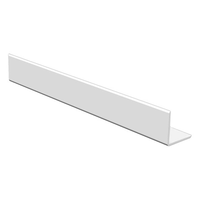 Boulanger Corner Moulding - White - PVC - 8-ft L x 1/2-in W x 1/2-in T