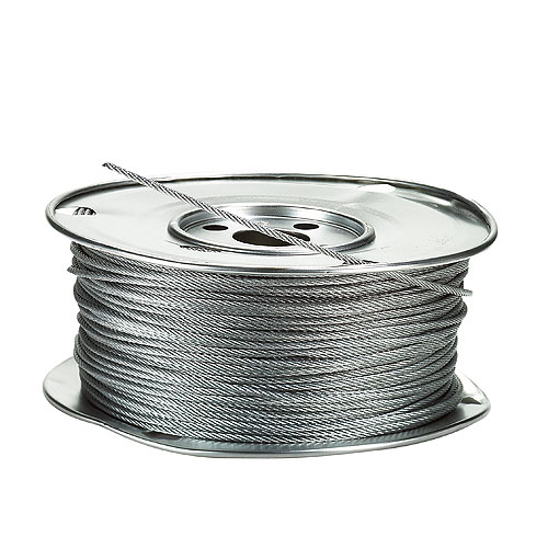 """Câble d'acier galvanisé, 7 x 7, 500' x 1/8"""""""