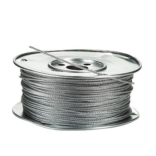 "Galvanized Steel Cable - 7 x 7 - 500' x 1/8"""