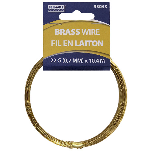 Brass Wire Roll - 10.4 m - 22 Gauge