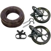 Clothesline Kit - 150' - Antique Bronze