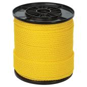 Ben-Mor Twisted Polypropylene Rope - 3 Strands - Yellow - 550-ft x 1/4-in