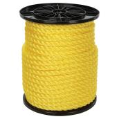 Twisted Polypropylene Rope - 3-Strand - 5/8