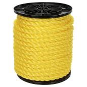 Twisted Polypropylene Rope - 3-Strand - 3/4