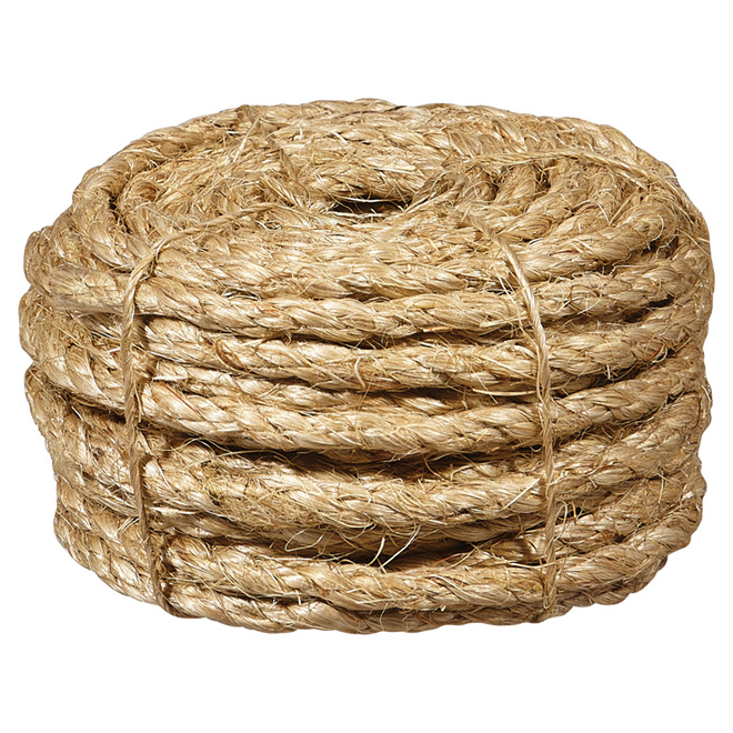 "Sisal Rope - Twisted - 1/4"" x 50' - Natural"