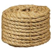 "Sisal Rope - Twisted - 3/8"" x 50' - Natural"