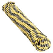 "High Visibility Rope - Braided - 1/4"" x 50' - Black/Yellow"