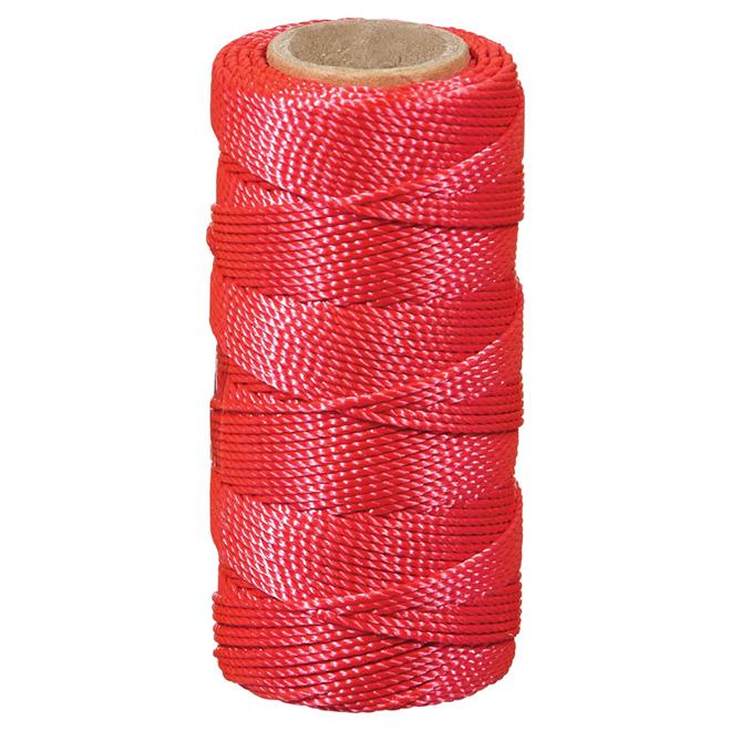 Ficelle à seine en nylon, torsadée, #18 x 250', rose
