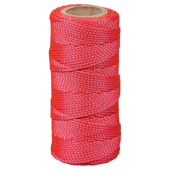 Ficelle à seine en nylon, tressée, #18 x 200', rose