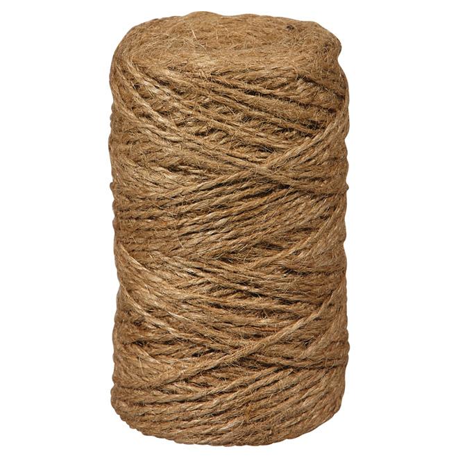 Ficelle de jute, torsadée à 2 plis, moyenne, 495', brun