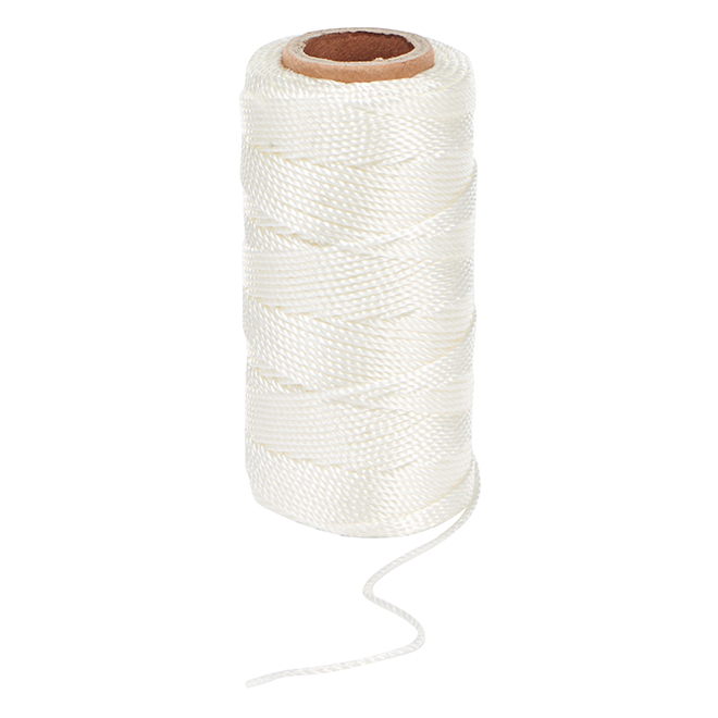 Twisted Nylon Twine - 250' - #18 - White