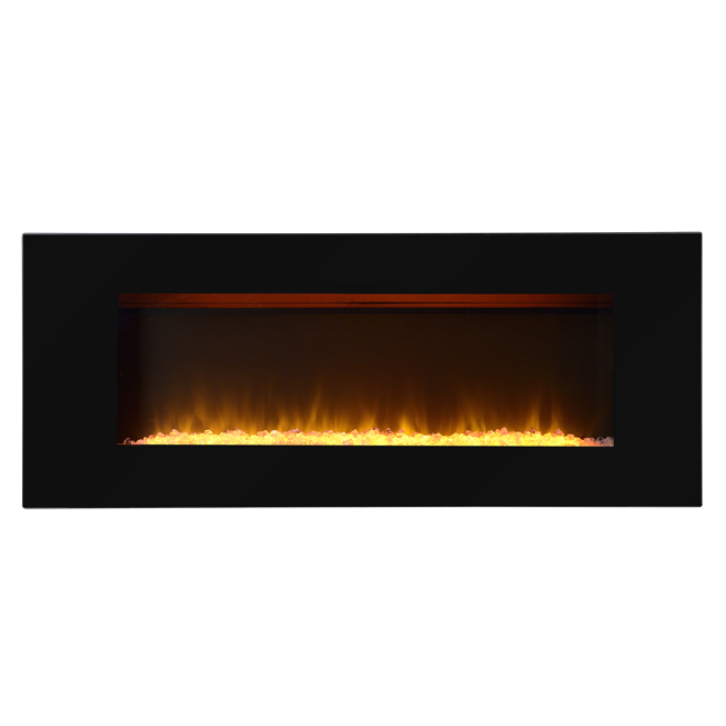 "Flamelux Electric Wall Fireplace - 60"" x 24"" - 1500W - Black"