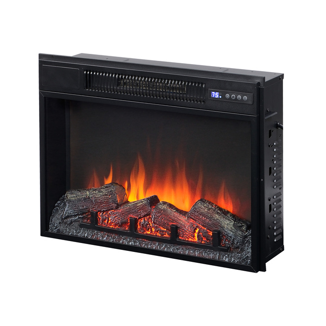 Flamelux Electric Fireplace - 1500 W - 23-in - Black