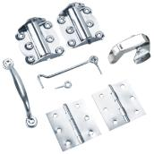 Zinc Finish Screen Door Hardware Kit