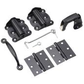 Black Screen Door Hardware Kit