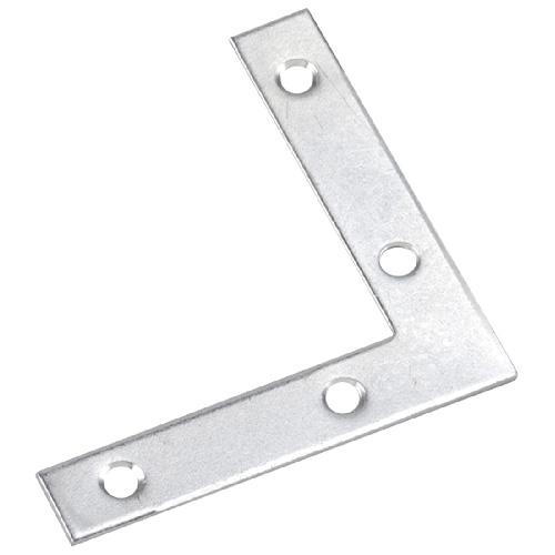 """Équerre plate, 6"""" X 1"""", acier, zinc"""