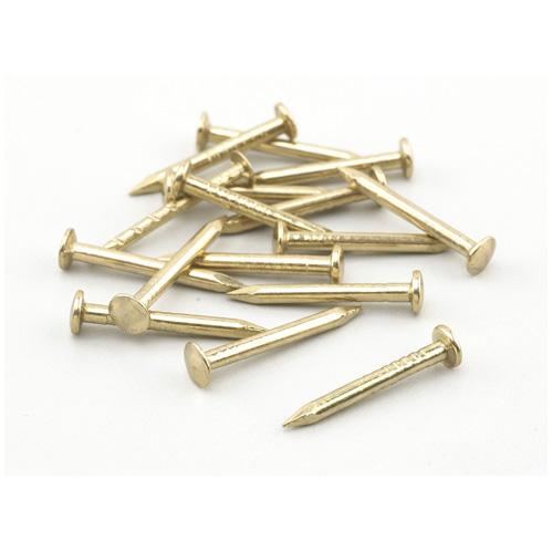"Shade Bracket Nails - 15GA - Brass - 3/4"" - 114/Pk"