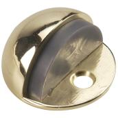 Low-Profile Dome Door Stop Chrome Finish - 1 3/4'' x 1''