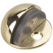 Butoir en dôme à profil bas nickel brossé, 1 3/4'' x 1''