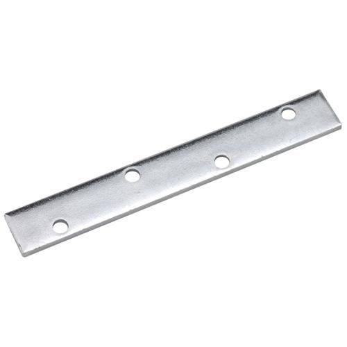 """Plaque de renfort en acier, 8"""" x 1 1/8"""", zinc"""