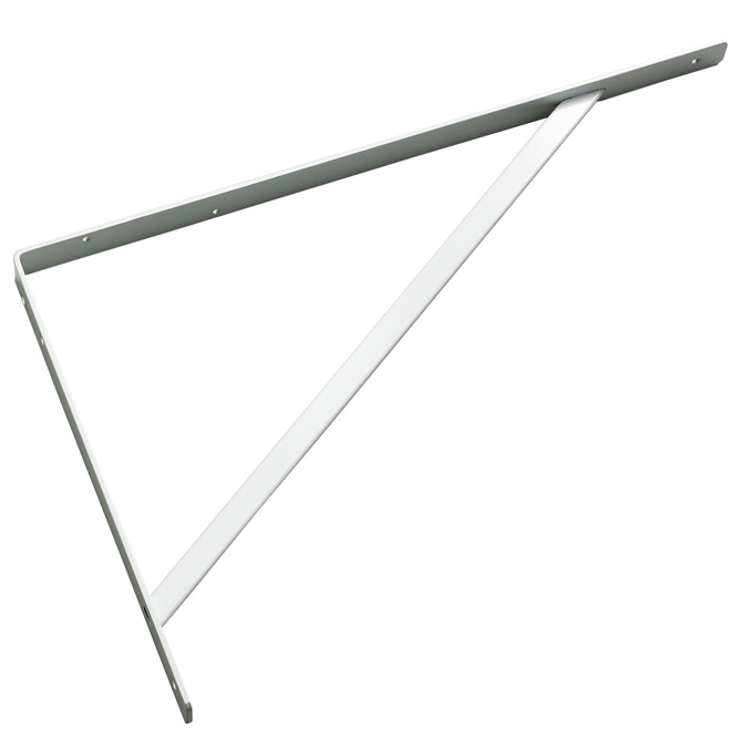 "Steel Shelf Bracket - 20"" - White"