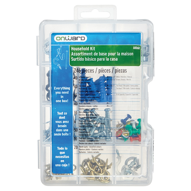 Household Hanging Kit - 246 pieces | RONA