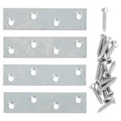 "Mending Plate + Screws - Steel - 3"" x 3/4"" - 4/PK - Galvanized"