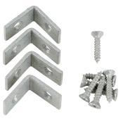"Corner Brace - Steel - 1/2"" x 3/4"" - 4/PK - Galvanized"