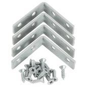 "Corner Brace - Steel - 5/8"" x 2"" - 4/PK - Galvanized"