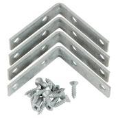 "Corner Brace - Steel - 5/8"" x 2 1/2"" - 4/PK - Galvanized"