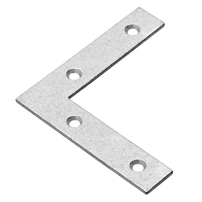 "Flat Corner - 3"" X 5/8"" - Steel - Galvanized - 4/Pk"