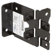 "PermAlign Hinge - Post/Butt - 4 x 2 x 3"" - Steel - Black"