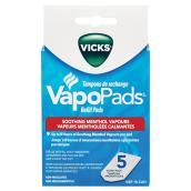 Tampons de menthol parfumés, paquet de 5