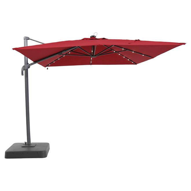 Parasol suspendu 9 x 10 pi, rouge