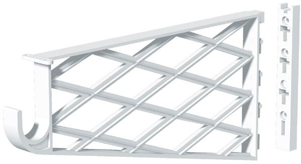Shelf and Rod Bracket - Plastic - White