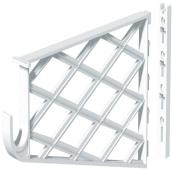 Shelf and Rod Bracket - Plastic - White