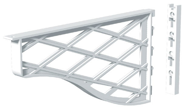 Shelf Bracket - Plastic - White