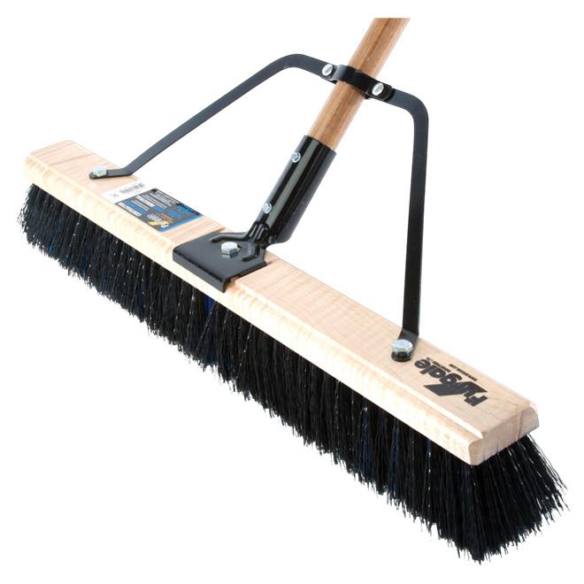 """Contractor Broom for Heavy Debris - Wood/Steel - 60"""" x 24"""""""